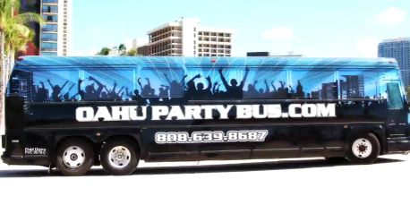 Oahu Party Bus, Gay Party Bus, Gay Transportation, Hawaii Gay Transportation, Party Bus, Gay Bus
