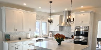 White Kitchen in Orland Park- Frost by Fabuwood
