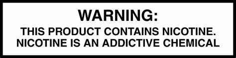 WARNING: THIS PRODUCT CONTAINS NICOTINE. NICOTINE IS AN ADDICTIVE