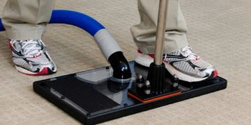 flushing and extracting pet urine from carpet with a water claw tool