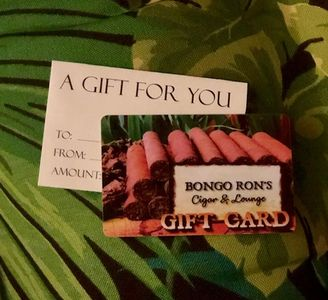 cigar lounge, gift card, cigar lounge in Connecticut, bongo rons gift, gifts for men,