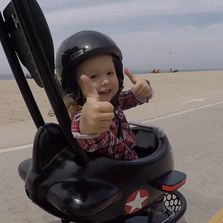 Longboard stroller cruising around