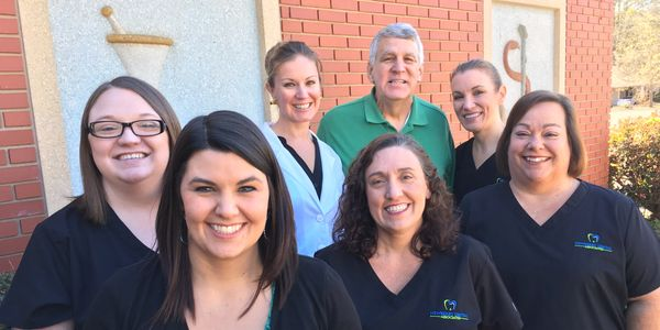 The staff of Newberry Dental Associates.  Dr Sarah Rush-Downs and Dr William B Rush
