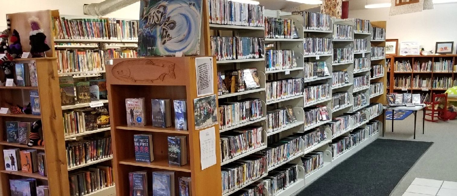 A view of the DVD section.