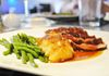 Chef Marie - MCHEF Seared Duck Breast, Classical Glazed Orange Sauce, Rose Petal Jelly, Gratin Dauphinois and Sautéed Green Beans