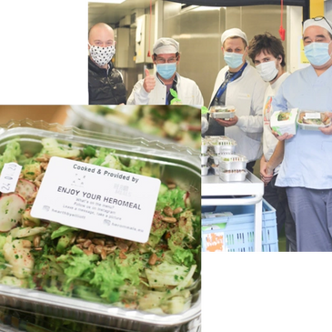 Heromeals: Distributing free meals made out of food surplus to Healthcare actors during COVID in Bru