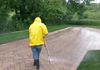 BRICK PAVER PRESSURE WASHING WITH CHEMICAL CLEANER