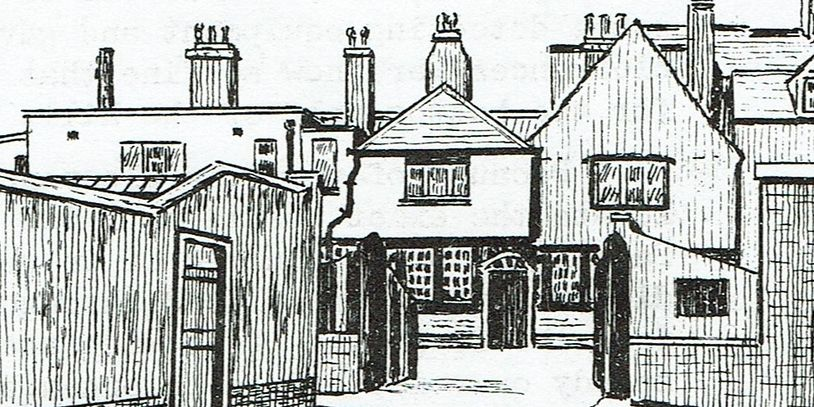 The Three Cups Courtyard, Harwich, by G.G. 1973