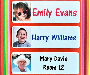 Photo Name Labels Iron On Name Labels School Name Labels Care Home Labels Name Tags
