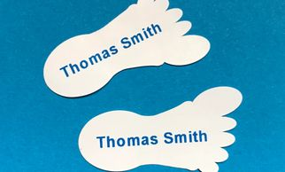 Name labels for shoes Shoe Labels