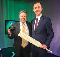 Kevin Willett, host of Business As Usual on set with Benji Ball's Founder & CEO Benjamin McEvoy