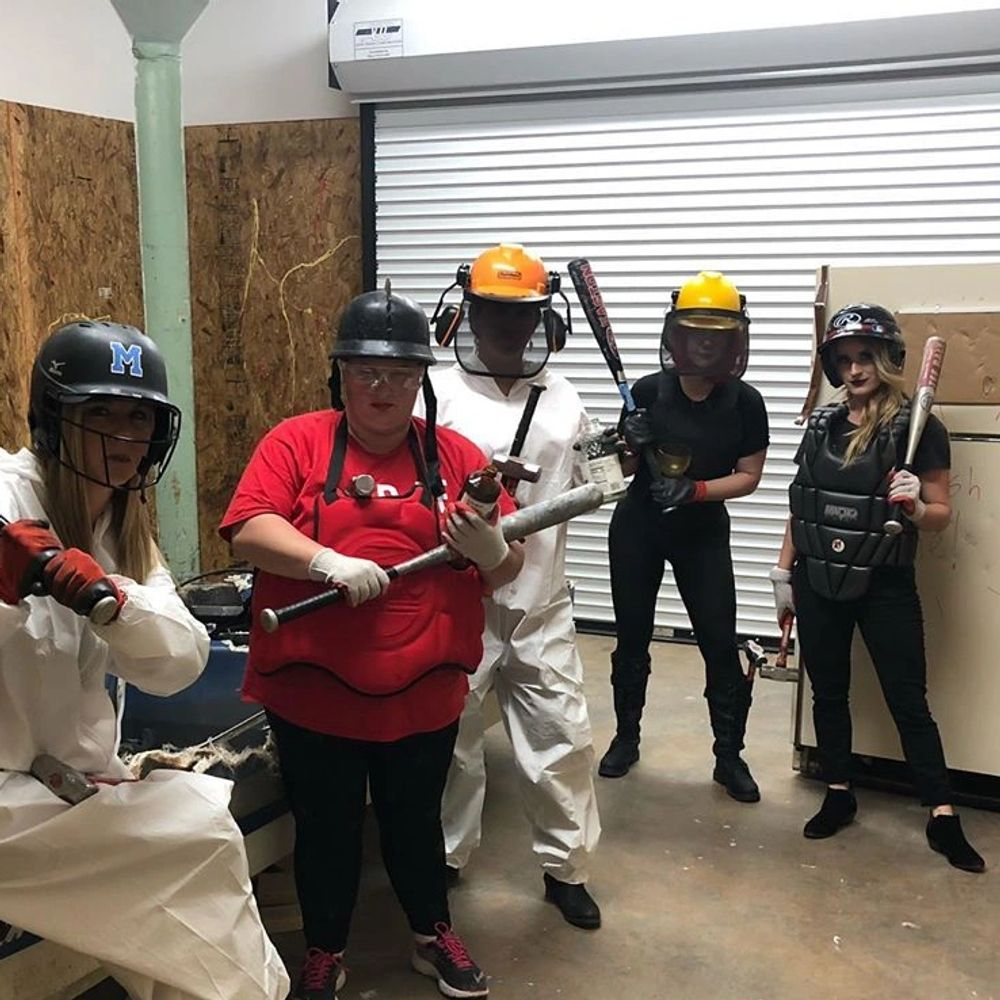 The Mad Smash Rage Room at Taylors Mill- Where you can get stress relief through breaking