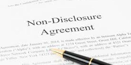 Non Disclosures Are Provided for Confidentiality