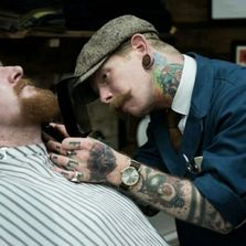 Barber, barbershop, barbering, Frank Timer, Thy Barber  London,  Shoreditch, Rockabilly, beard, sex