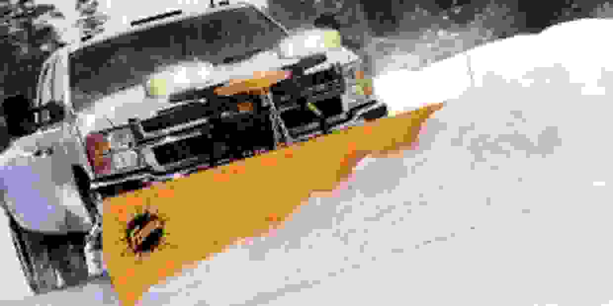Plowing snow, commercial and residential