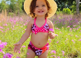 Teeny Weeny Swim Diaper Bikini by Turtle Soup Company