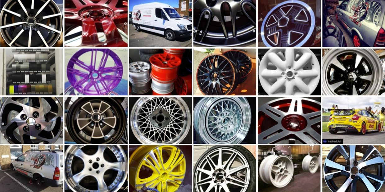 Instagram collage of images of Spit and Polish Wheel Refurbishment.