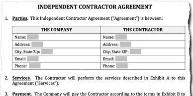 All clients get a contract for service.