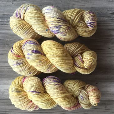 Hand Dyed Alpaca & Fine Merino are Spring in a Skein.