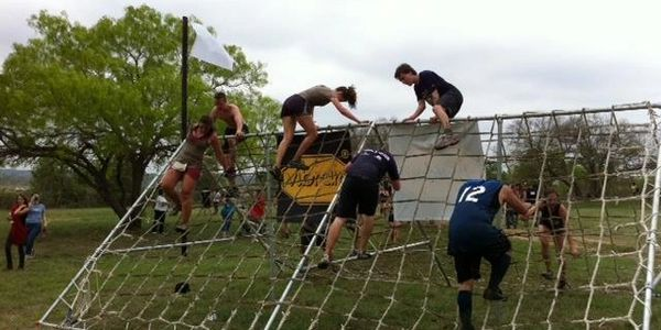 mud race rope cargo net activity