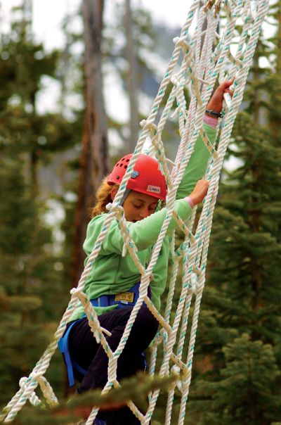 Ships Mast Net on Ropes Course
