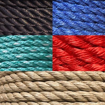 Various cargo net rope materials