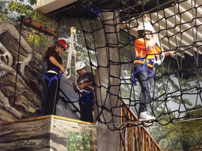 Rope Cargo Net on an Indoor Ropes Course Installation