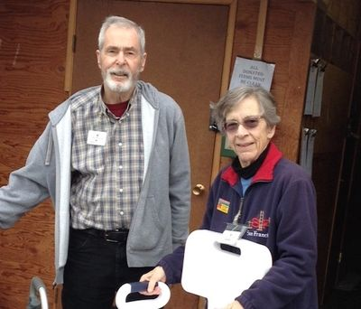 Two of our top volunteers.