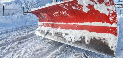 Commercial Snow plow salting
