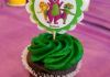Personalized Barney cupcake toppers