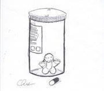 Drawing by Chris Straughan- A Victim of Methadone Poisoning