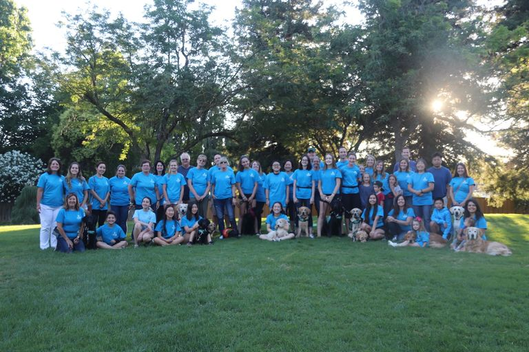 Group photo of Guide Dogs for the Blind Pleasanton Puppy Raisers