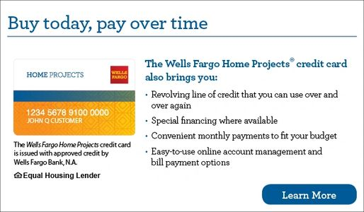 Wellsfargo home project finance
