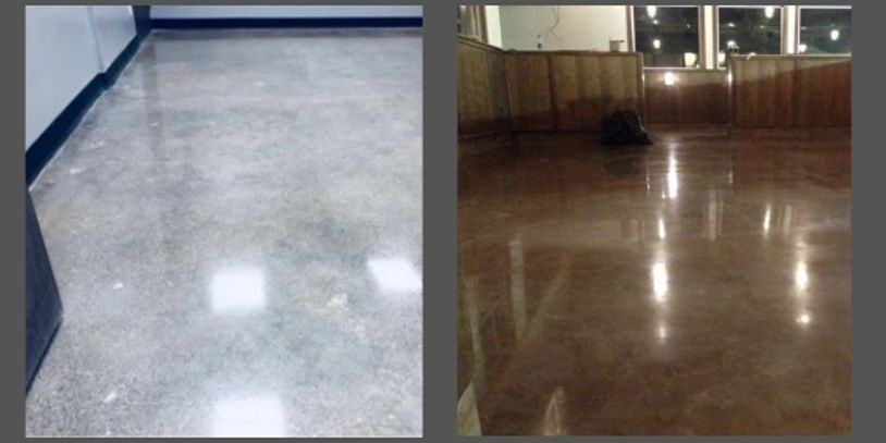 decorative concrete polished flooring