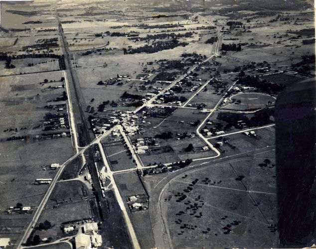 Aerial photograph of Pakenham c. 1937. Donated by Don Jackson