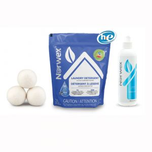 3 wool dryer balls, detergent, and stain remover for $59.49