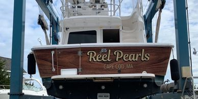 Boat wraps, boat lettering, wood grain wrap, wood grain boat, real gold , real gold vinyl