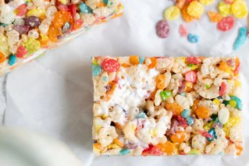 Fruity Pebbles Rice Krispies Treat