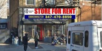 Small Retail Space for Lease at 139 Thompkins Ave. Brooklyn NY. Great for a neighborhood cafe.