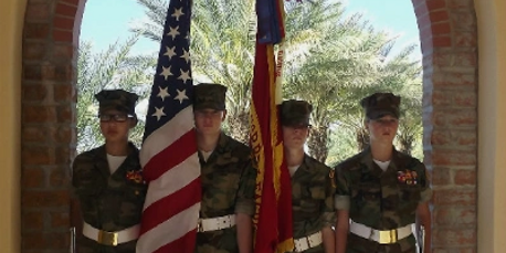 White Mountain Young Marines Color Guard 2013
