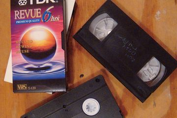image of vhs tapes