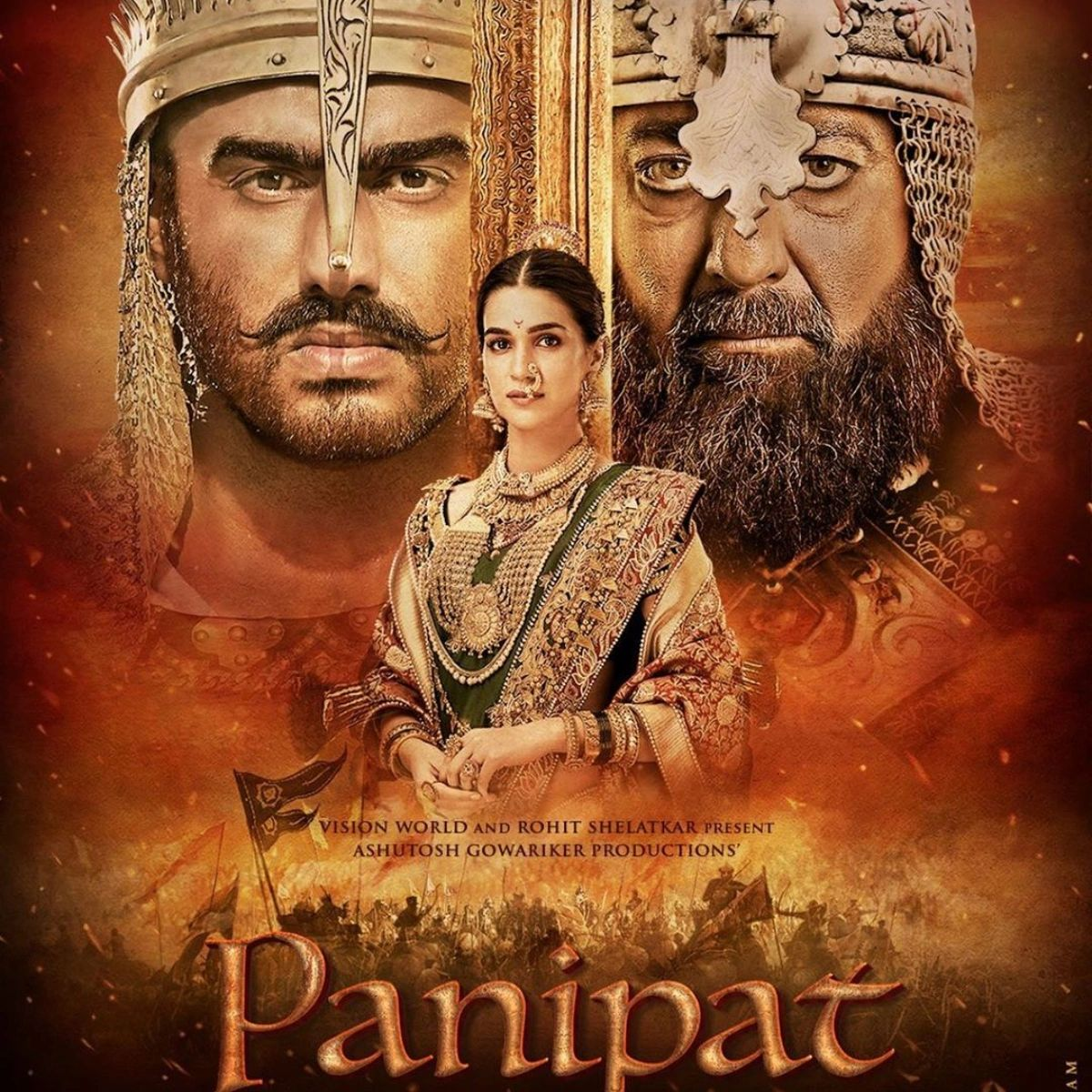 "{""blocks"":[{""key"":""6dgq0"",""text"":""Directed by Ashutosh Gowariker, this epic war film based on the third battle of Panipat stars Arjun Kapoor, Kriti Sanon, and Sanjay Dutt."",""type"":""unstyled"",""depth"":0,""inlineStyleRanges"":[],""entityRanges"":[],""data"":{}}],""entityMap"":{}}"