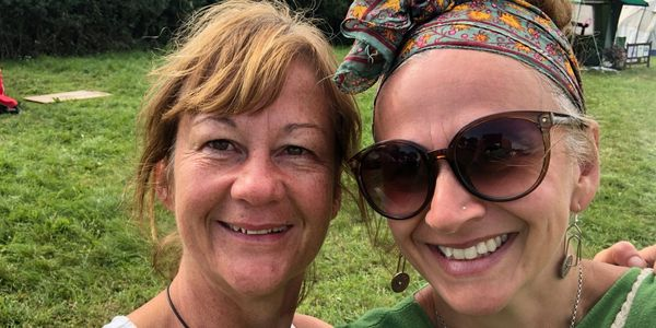 Well Women, Julie and Clare at Santosha Yoga Camp 2019