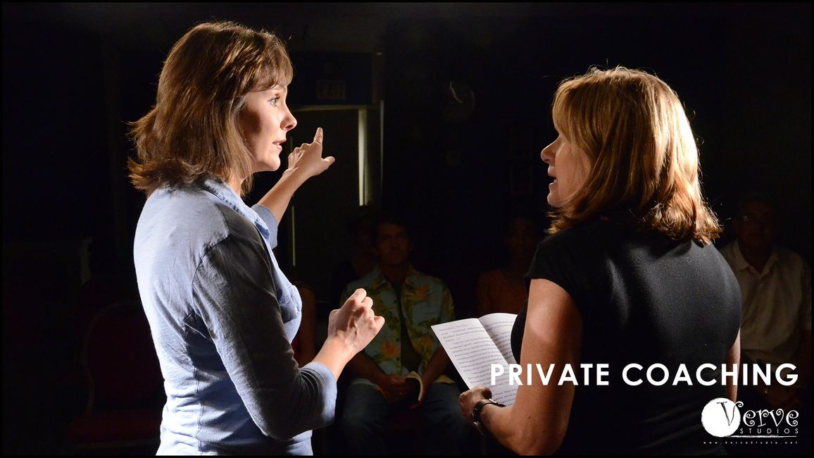 Amanda Melby offers private acting coaching.