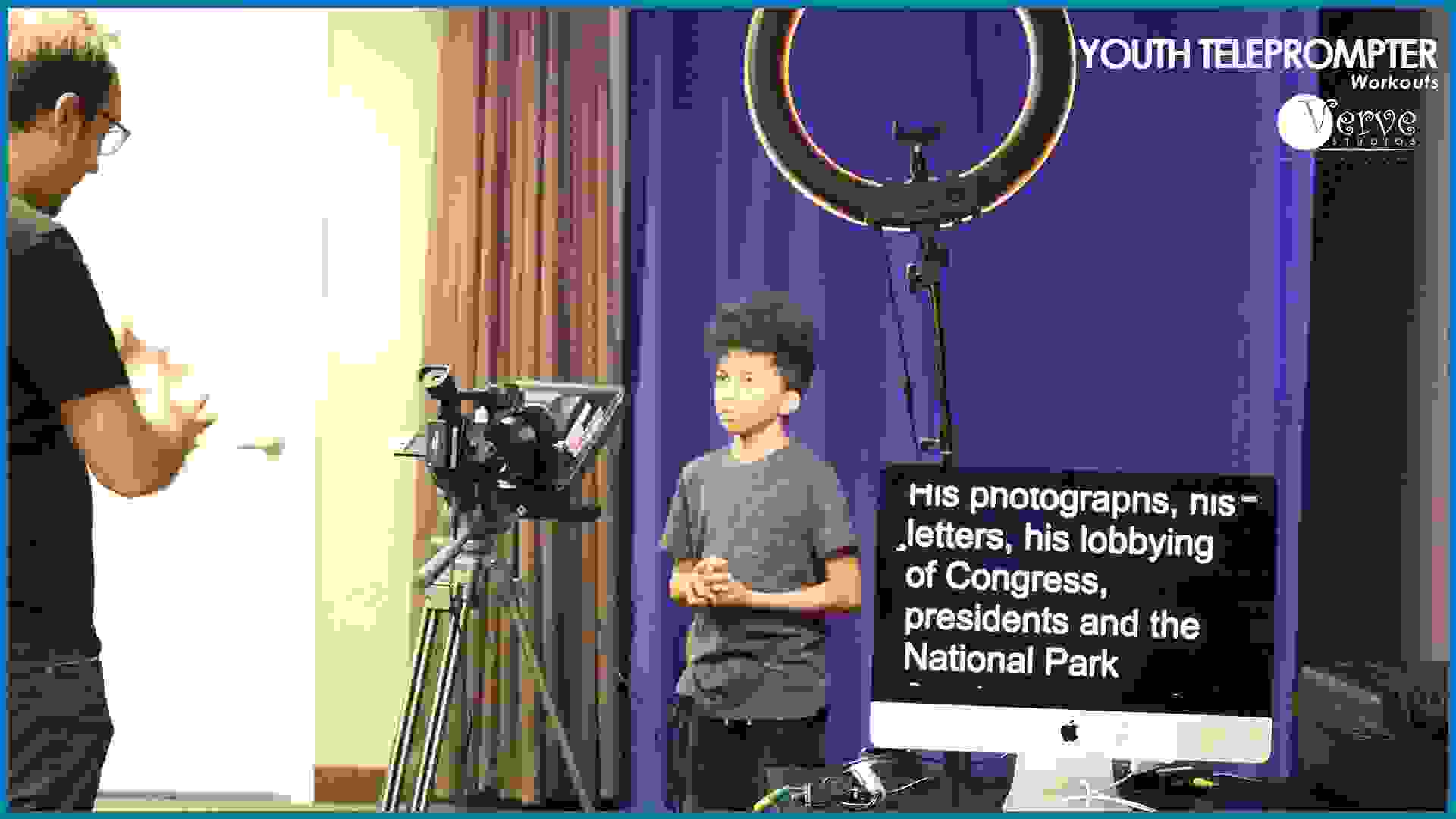Verve Studios TelePrompTer Workshop