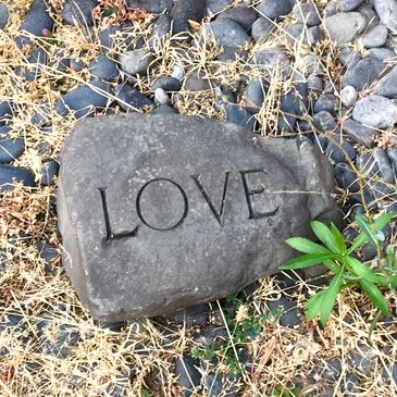 Rock with Love etched in