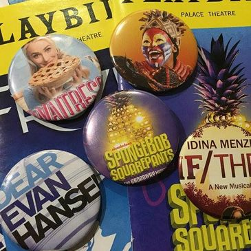musical theatre, broadway, musicals, new york, 42nd street, theater, pinback buttons