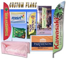 attention flags, custom imprinted flags, flag displays, table runners, table throws, custom flags