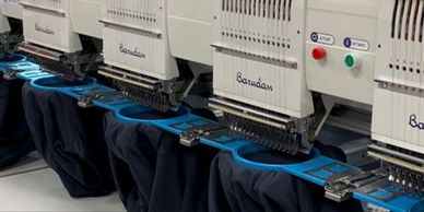 embroidery service, apparel, textiles, hats, aprons, t-shirts,sweatshirts,jackets, sweaters,uniforms