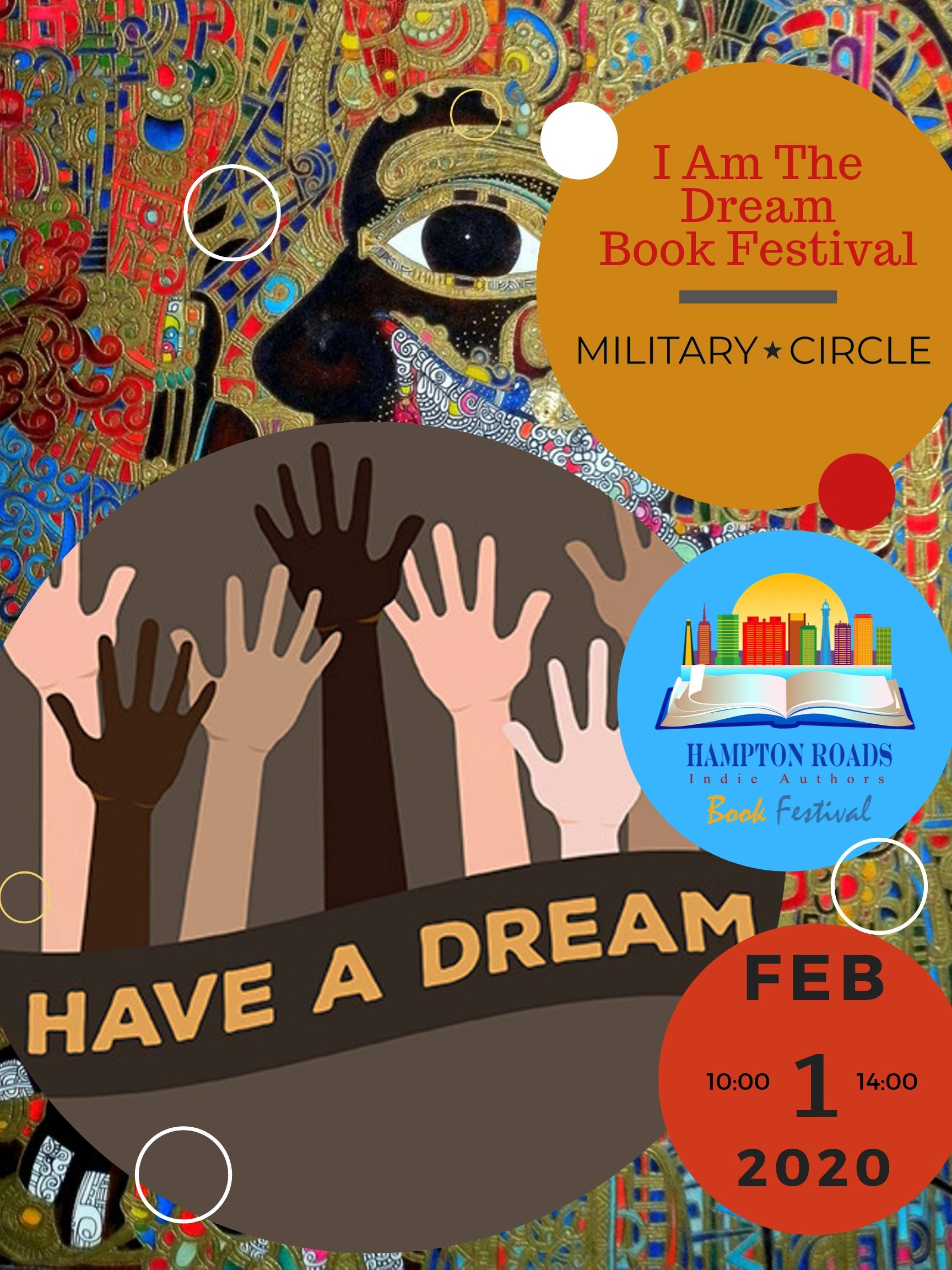 "{""blocks"":[{""key"":""8u010"",""text"":""Join us, Saturday 1, 2020, at Military Circle for the Hampton Roads Indie Authors I AM The Dream Book Festival.  We will have over 50 local authors and artist vendors plus DJ, live music, dancers, speakers, MC, and more. This event is FREE and open to the public.  More information located at https://hampton-roads-indie-author-book-festival-2019-103250.square.site/"",""type"":""unstyled"",""depth"":0,""inlineStyleRanges"":[],""entityRanges"":[],""data"":{}}],""entityMap"":{}}"